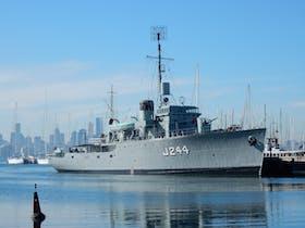 HMAS Castlemaine Museum Ship at Gem Pier Williamstown 2016
