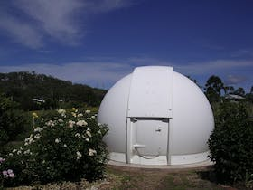 The white fibre-glass dome is used for a night sky tour.