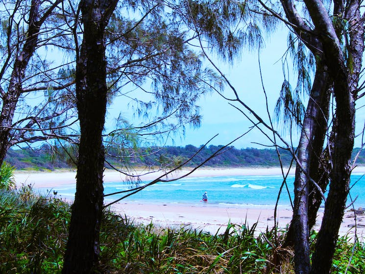 Iluka's Bluff Beach is tranquil and family friendly.