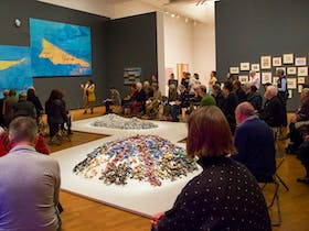Artist talk at the National Gallery of Australia