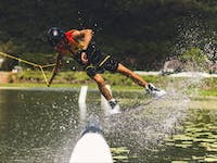 Cairns Wake Park offers a huge playground for professional riders to perfect their skills!