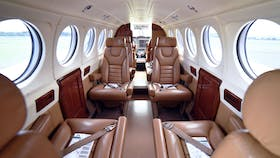 All Kirkhope Aviation aircraft are fitted with leather seating