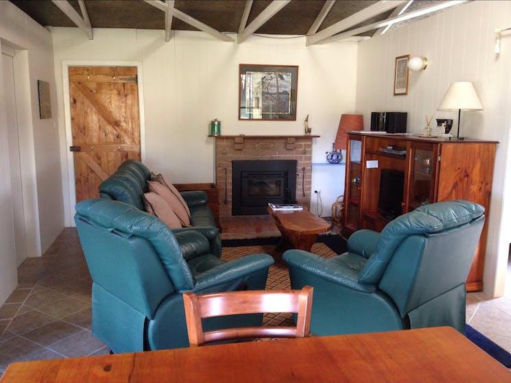 Cottage lounge room
