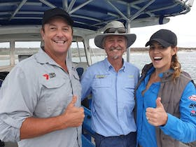 Scott & Olivia on board today from Creek to Coast Fishing Show