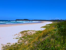 Looking south to Bluff Beach, Frazers Reef, Iluka.