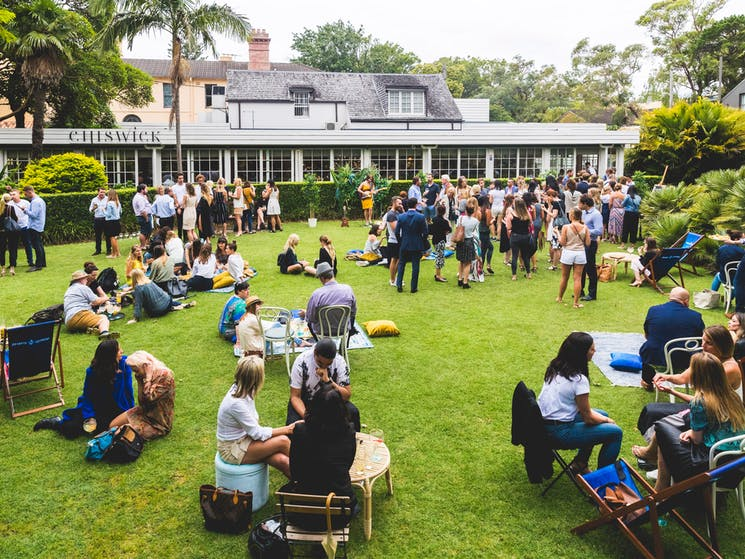 The Chiswick Lawn is a perfect place for an afternoon drink, brand activation or wedding.