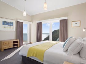 Master bedroom with a stunning view over Bass Strait