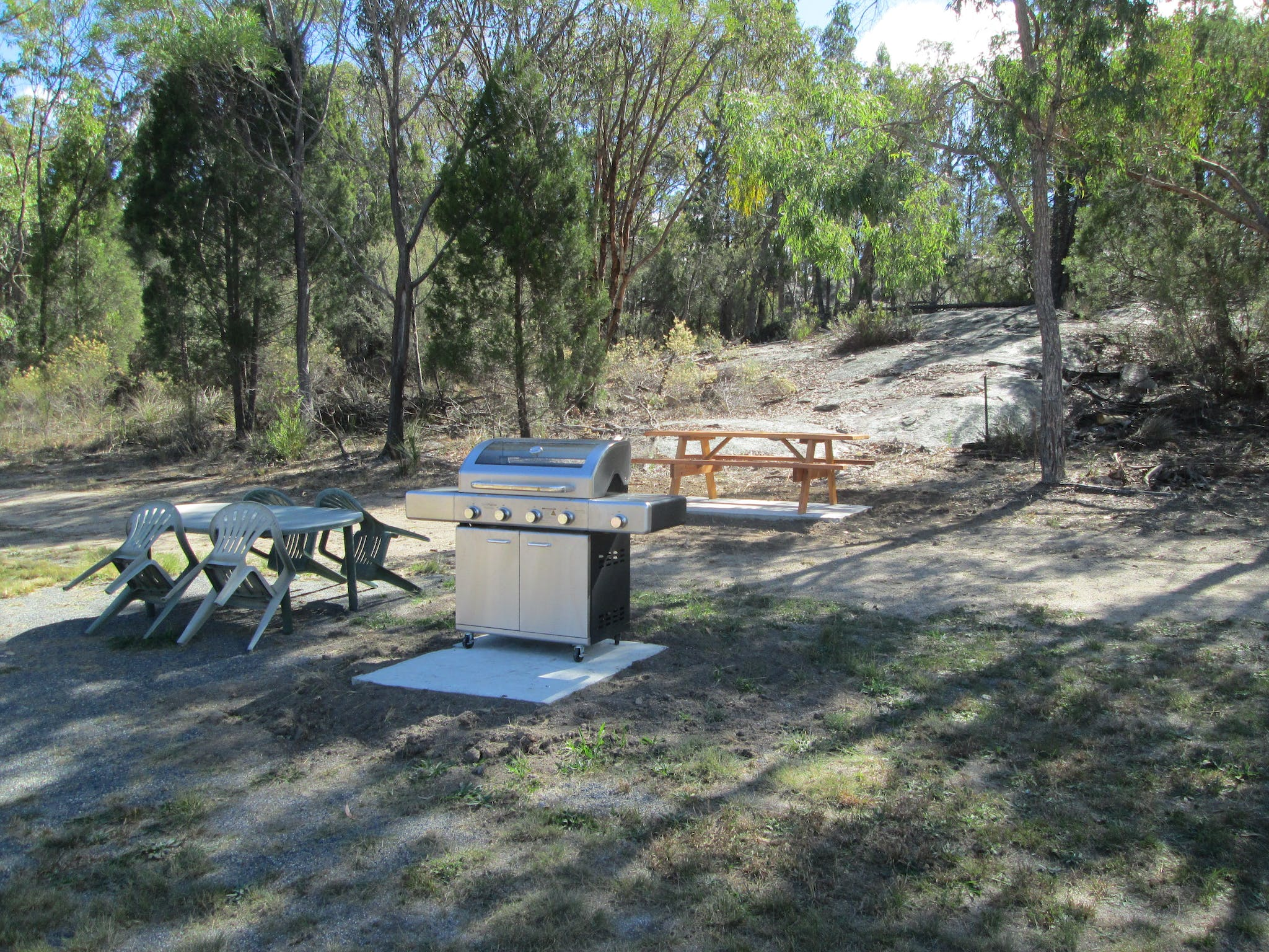 Shared BBQ and picnic area