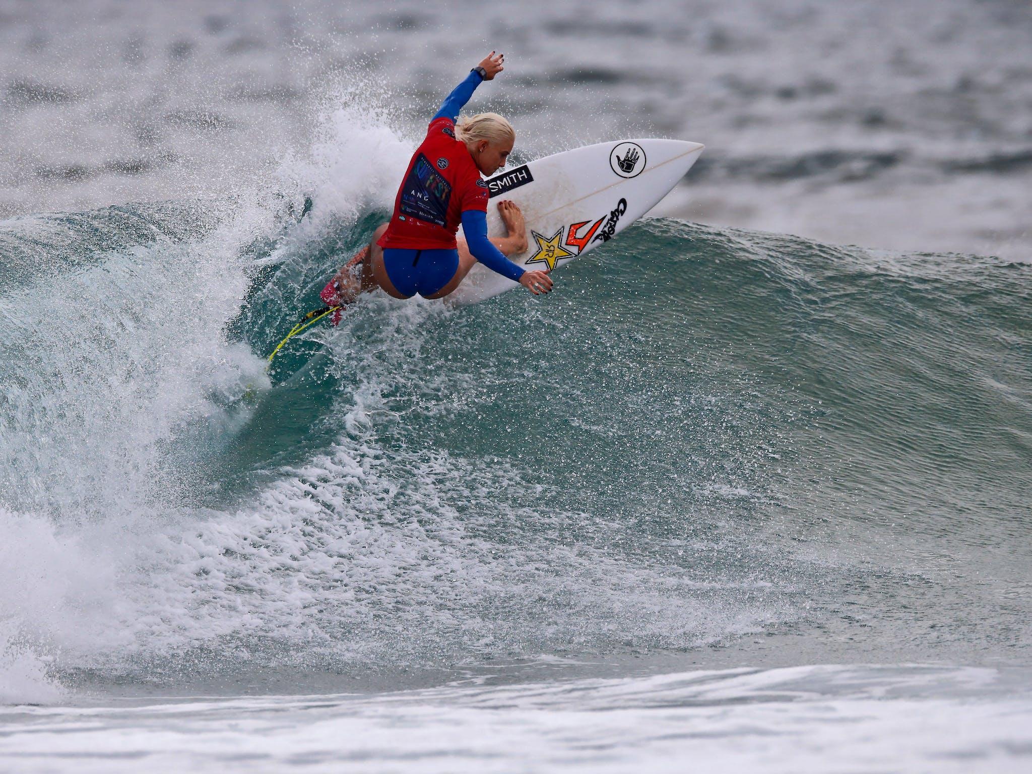 Surfer Tatiana Western Webb at Surfest 2017