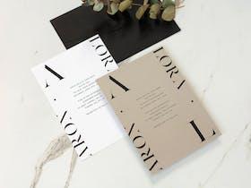 Black and white Wedding Invite