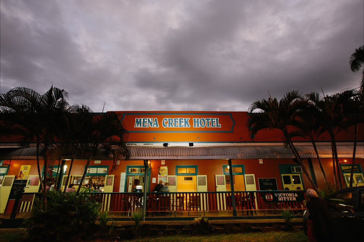 Mena Creek Hotel at Dusk