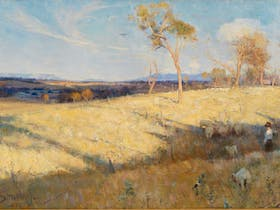 Arthur Streeton Golden Summer, Eaglemont (detail) 1889