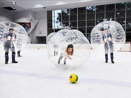 School Holiday Bubble Soccer on Ice