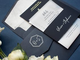 Wedding Invitations with Colourstock & Belly Bands