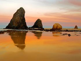 Photo of Glasshouse Rocks and Pillow Lava