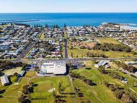Yamba Golf and Country Club from above