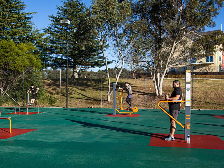 Outdoor Gym Equipment at Fairmont Resort & Spa Blue Mountains