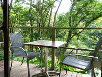 Bungalow verandah with table and chairs