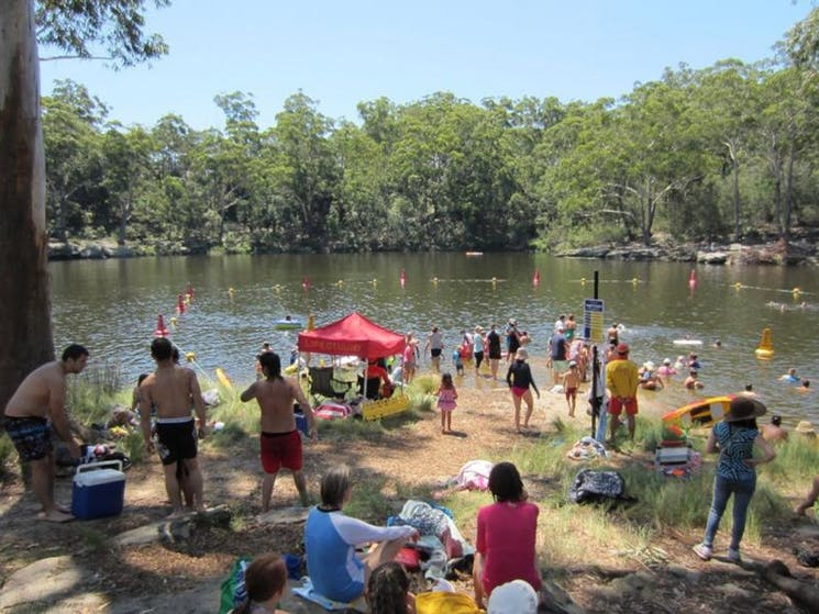 During the summer season Lake Parramatta provides an excellent place to cool down in.