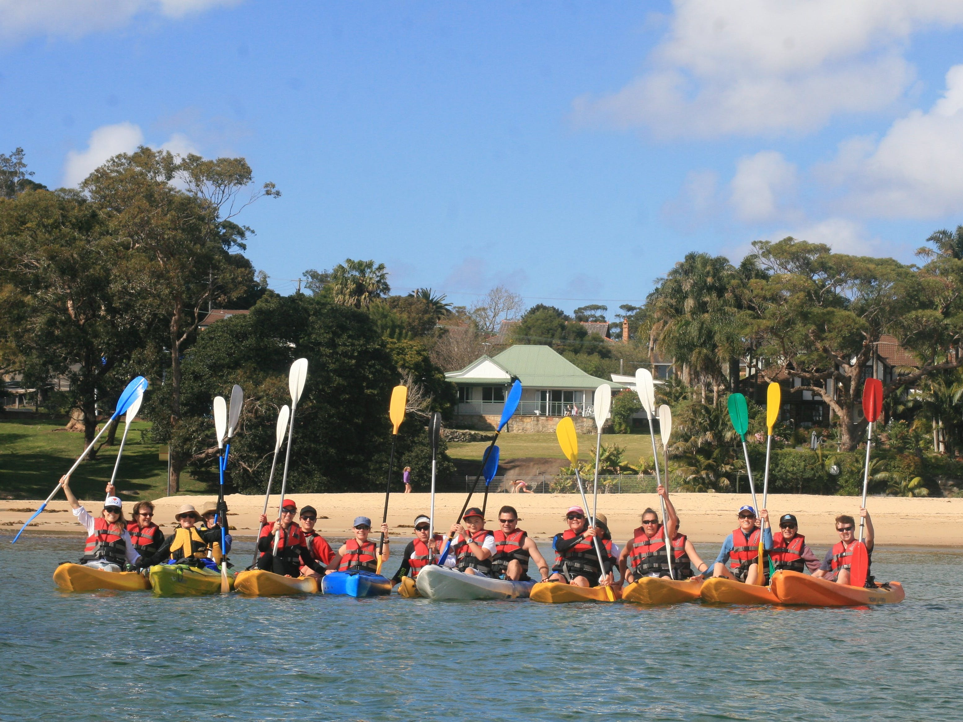 Corporate kayak trip at Bundeena
