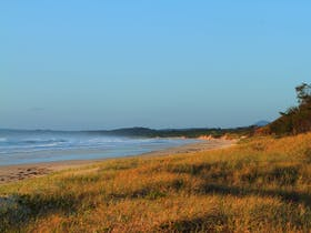 Looking south to Flat Rock. Pippi Beach, Yamba.