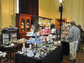 Stalls at the ACT Antiques and Collectables Fair