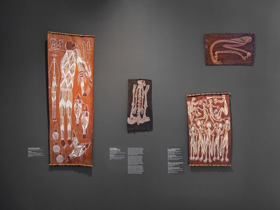 Converging Currents: Bark painting from Arnhem Land