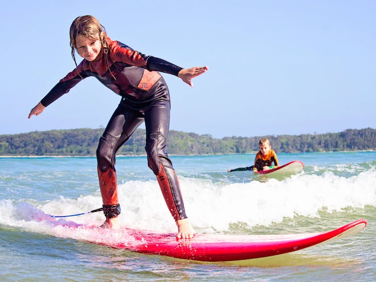 Learn to surf at Broulee