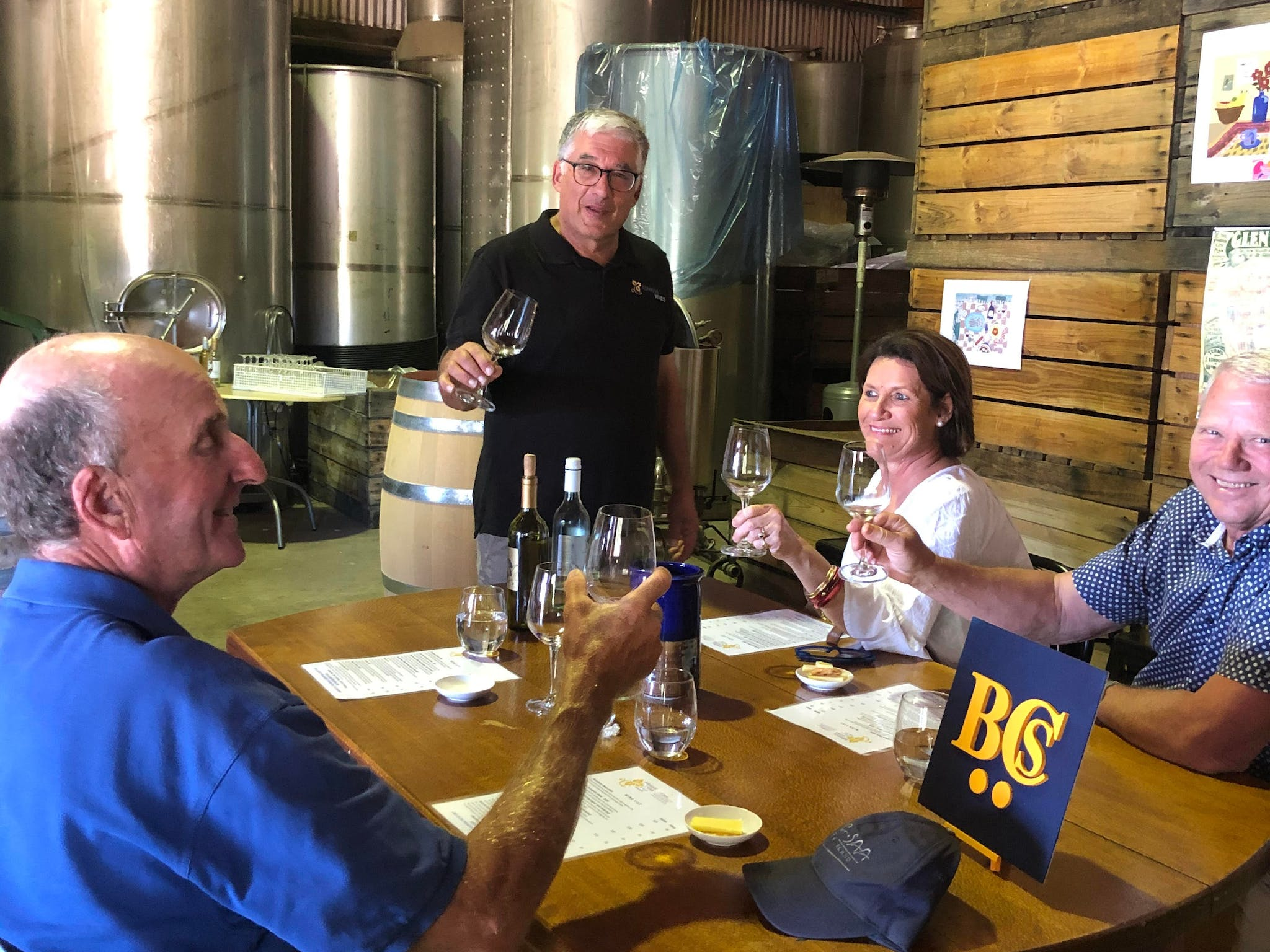 Listen to the story of the wine as explained by Tony the winemaker at Kominos Winery
