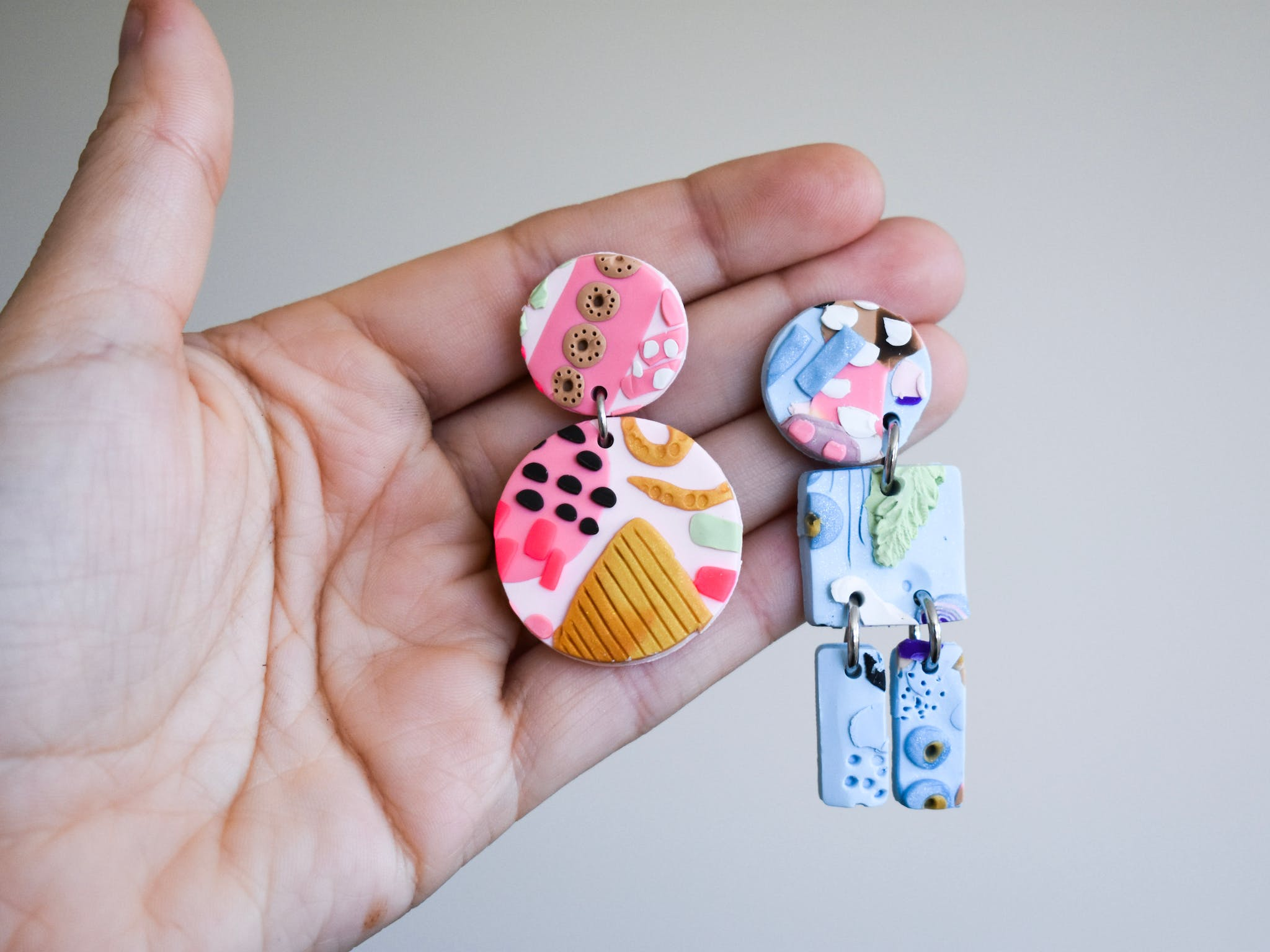 Make polymer clay earrings