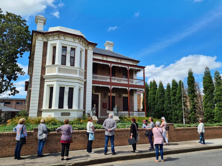 Hearing about Maitland's rich history on the walking tour