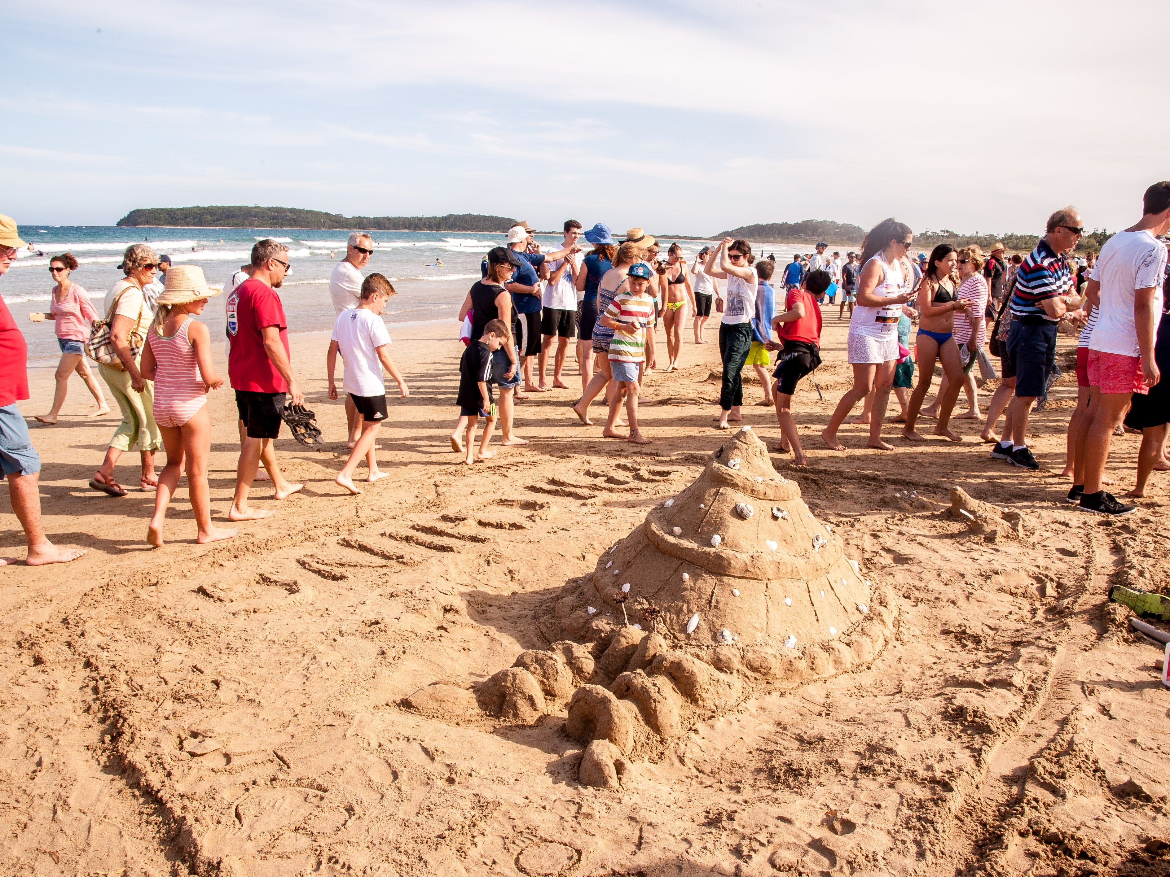 Sand Models at Broulee Beach