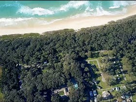 Island View aerial view shows close proximity to beach and natural bushland surrounds