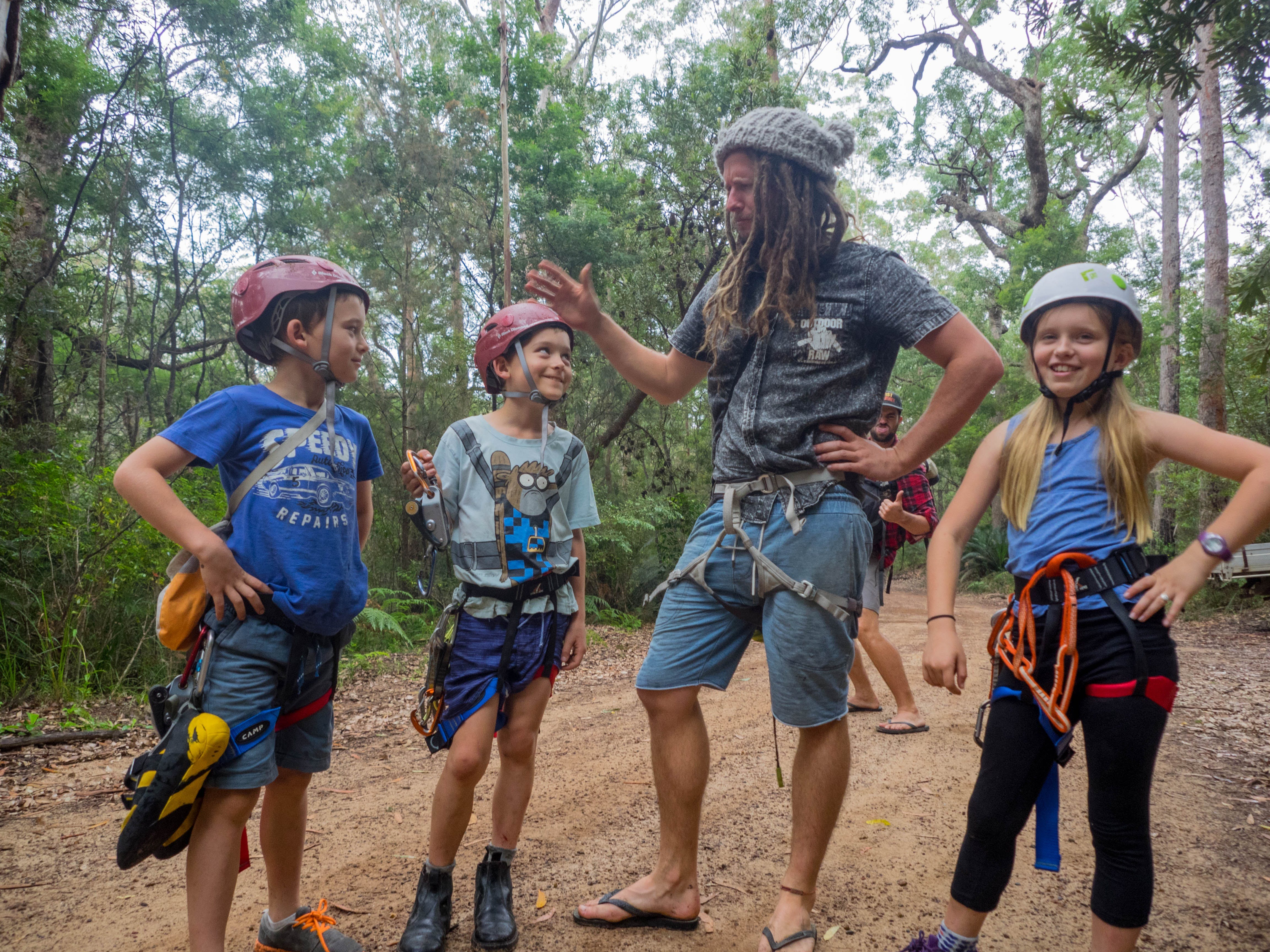 Kids Adventures and Kids Parties with Outdoor Raw Shoalhaven Climbing