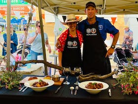 Competitors in the BBQ competition 2021