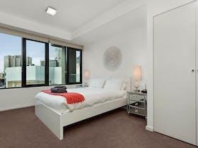 2 bedroom 1 bathroom building view - bedroom