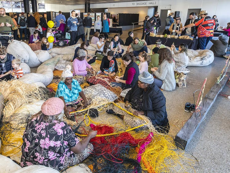 Aboriginal weavers from across Australia will be part of this year's weaving circle