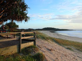 Fresh morning at Pippi Beach, Yamba.