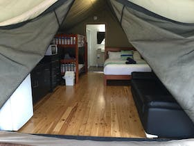 Safari Tent luxury camping with polished timber floors