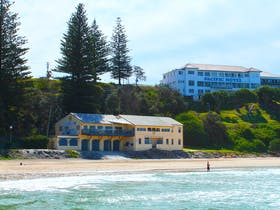 The club and the pub. Yamba Main Beach.