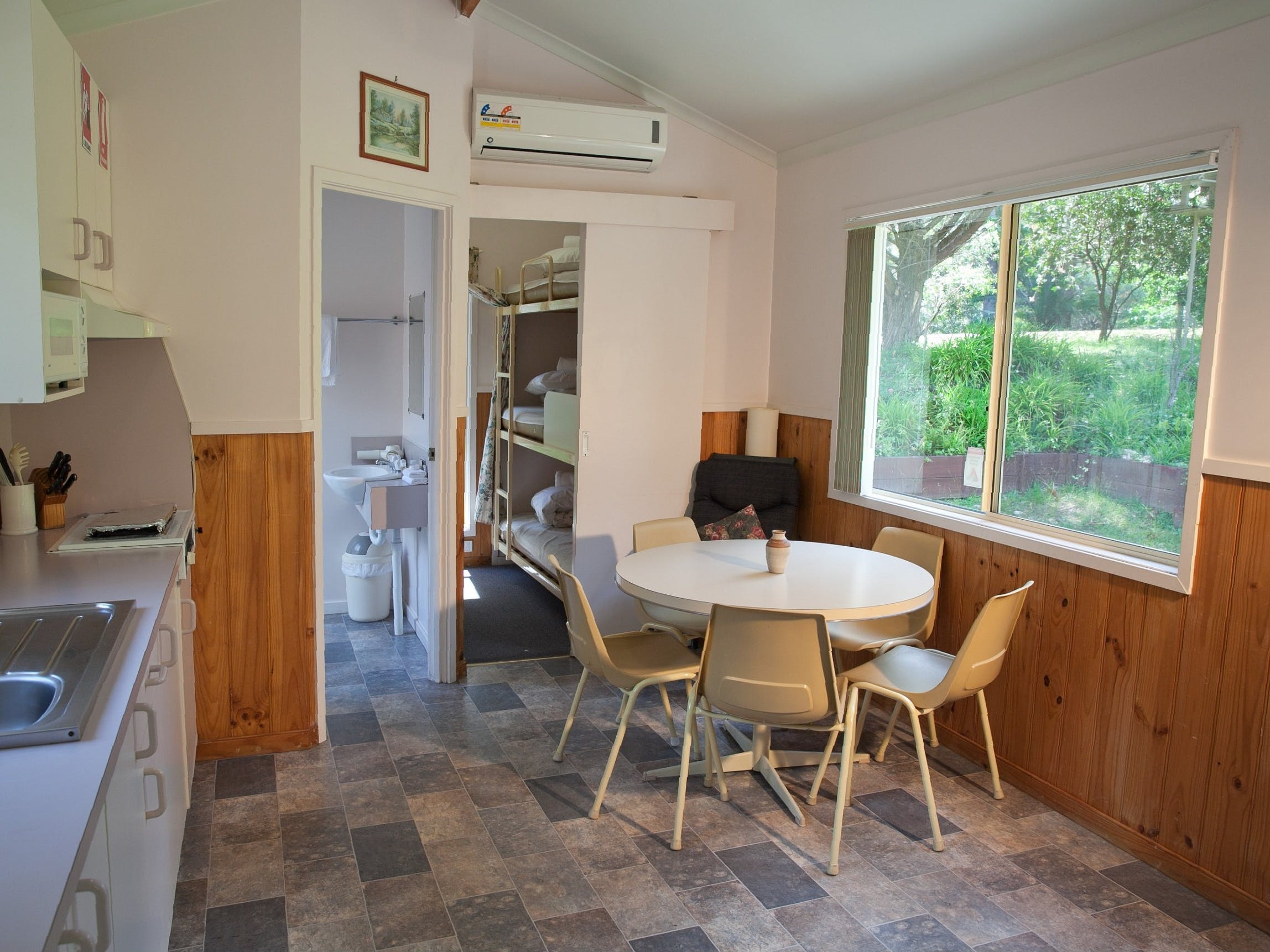 Cabin kitchen - dining