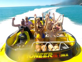 Adrenaline packed jet boat thrill ride in Airlie Beach, The Whitsundays