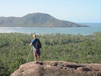 View over Zoe Bay on Hinchinbrook Island
