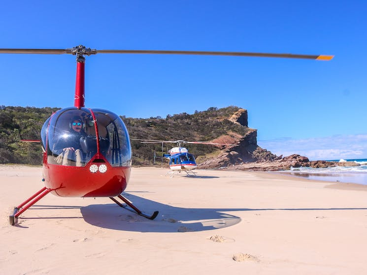 On one of our scenic flights South of Port Macquarie
