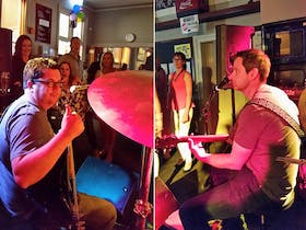Looks like it's Colonel Mustard, in the Clubhouse Bar, with a microphone! This four-piece Barossa-based acoustic cover band fuses contemporary acoustic rock with alternative classics. Come out for a great