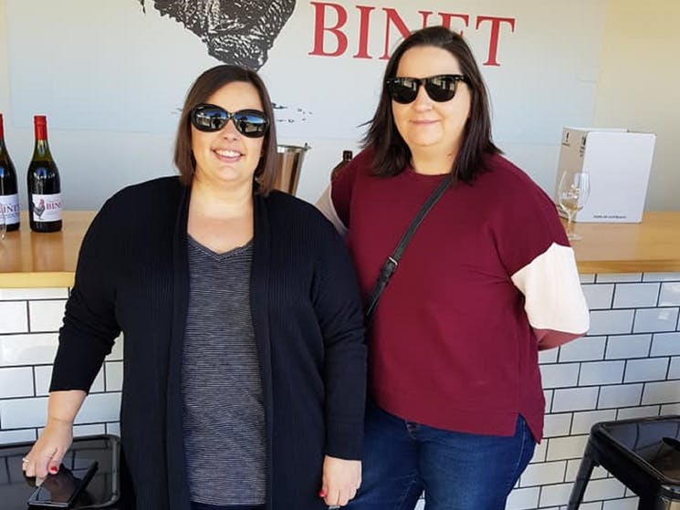 Wine tasting fun at Domaine de Binet