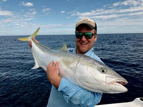 Yellowtail Kingfish will test every bit of your gear and stamina and are certainly a prized catch to