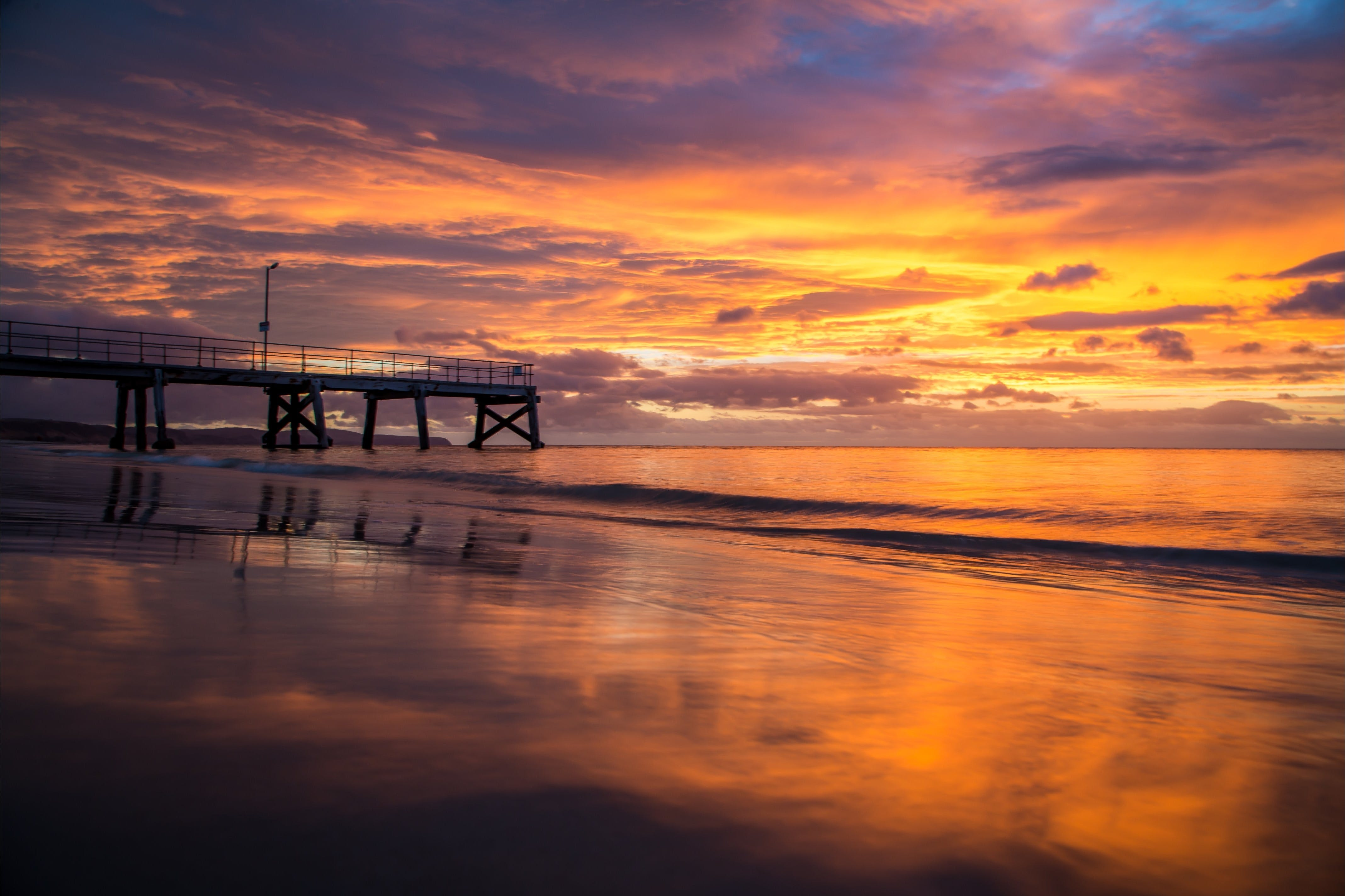 Normanville Beach Normanville Jetty Sunset