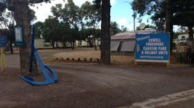 Main Entrance to the Cowell Foreshore Caravan and Cabin Park