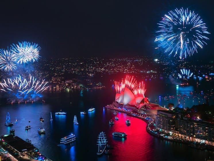 Harbour Light Parade during NYE Fireworks